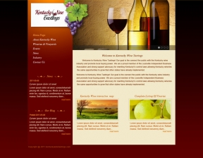 Web Design / Wine Business Portal