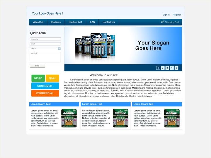 Web Design / Battery Company