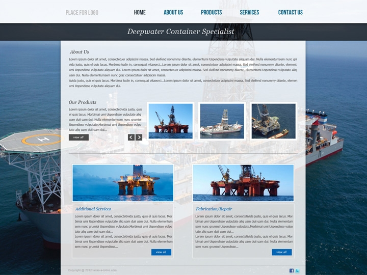Web Design / Deepwater Equipment